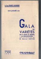 Nogent Sur Marne (64 Val De Marne)   Programme  GALA DE VARIETES Mars 1951 (M0275) - Programs