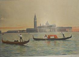 Italie. Venise. Eglise De Saint-Georges Le Majeur. Photogravure Fin XIXe. - Stampe & Incisioni