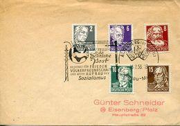55647 Germany Ddr Special Postmark 1953 Altenburg, Austellung Deutsche Post, Showing Playing Card Kartenspielen - Other