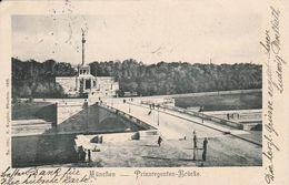 München -1902 - Prinzregenten Brücke - Scan Recto-verso - Muenchen