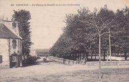 29-LESNEVEN LE CHAMP DE BATAILLE ET LA ROUTE DE GUISSENY - Lesneven