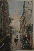 Italie. Venise. Canal Saint-Canziano. Photogravure Fin XIXe. - Stampe & Incisioni