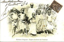 """Sur CPA N°5 Obl. Cachet Anglais De MUTSAMUDU -Griffe """"PAQUEBOT"""" Via Zanzibar - 1913 - - Brieven En Documenten"""
