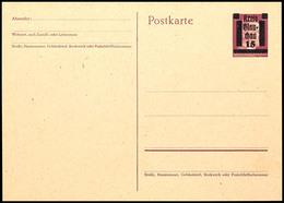 4 Ganzsachen-Postkarten: P A893II (gepr. Zierer BPP), P B885 Und P B893I+II (gepr. Zierer BPP) Tadellos Postfrisch, Mi.  - Glauchau