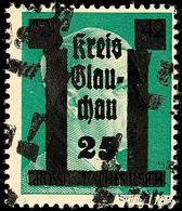 25 A. 42 Pf. Grün, Doppelter Aufdruck, Postfrisch, Sign. Rijxman, Katalog: 12DD ** - Glauchau