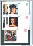 BELGIUM - 1975  - THEMABELGA - COB BK2-BK9 -  Lot 21734 - Stamped Stationery