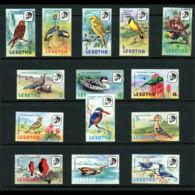 Lesotho, 1981, Birds, Animals, Fauna, MNH, Michel 330-343 IX - Lesotho (1966-...)