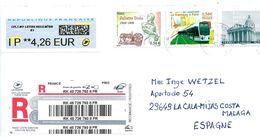 Frankreich XXL446 / Einschreiben 2020 Mit 3 Marken Entwertet (tramway Etc.) - France