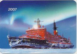 Calendar Russia - 2007- Nuclear Icebreaker Russia - Arctic - Ship - Rarity. - Calendars