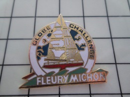 316b Pin's Pins / Beau Et Rare / THEME : SPORTS / VOILE VENDEE GLOBE CHALLENGE FLEURY MICHON VOILIER - Sailing, Yachting