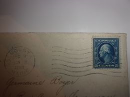 ENVELLOPPE TIMBREE USA 1919  MARQUAGE AUGUSTA MAINE   TO FRANCE  CLERMONT FERRAND - Cartas