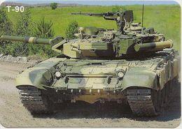 Calendar Russia - 2016 - Military - T-90 Tank - A Rarity. - Calendars