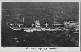 """M/T.  """"PURFINA CONGO""""   (S.A. PETROFINA)  195.   Naar   Oostende - Pétroliers"""