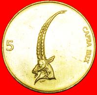 · IBEX (1992-2006): SLOVENIA ★ 5 TOLARS 1997 MINT LUSTER! LOW START ★ NO RESERVE! - Slovenia