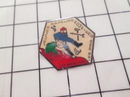 316b Pin's Pins / Beau Et Rare / THEME : POMPIERS / JEUNES SAPEURS POMPIERS ST BREVIN LES PIN'S - Bomberos