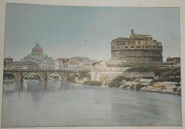 Italie. Rome. Château Saint-Ange. Photogravure Fin XIXe. - Stampe & Incisioni
