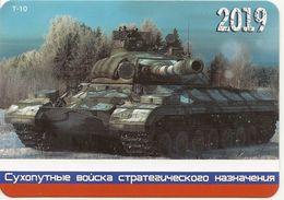 Calendar Russia - 2019 - Military - T-10 Tank - Rarity. - Calendars