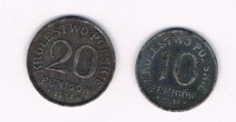 10 & 20 FENIGOW LOT 2 PIECES - Pologne