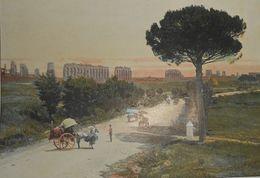 Italie. Rome. Aqueduc De Claude Via Latina. Photogravure Fin XIXe. - Stampe & Incisioni