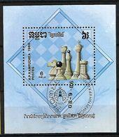 CAMBODGE  Blocs&Feuillets 1986 :  ''Jeux D'Echecs'' Obl, CAD  TTB - Cambodge