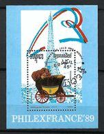 CAMBODGE  Blocs&Feuillets 1989 :  ''PhilexFrance 89'' Obl, CAD  TTB - Cambodge