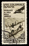 25 L. Flugpostmarke Ludwig Amadeus Prinz Von Savoyen, Herzog Der Abruzzen, Sauber Rundgestempelte Marke, Mi. 80.-, Katal - Italie