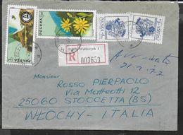 POLONIA - RACCOMANDATA DA WALBRZYCH 12.2.1977 PER L'ITALIA - 1944-.... Republic
