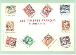 CARTE PAP LE LANGAGE DES TIMBRES LES TIMBRE FRANCAIS / M'AIMEZ VOUS ? / VALIDITE MONDE - Prêts-à-poster:  Autres (1995-...)