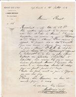 Cher - Fosse-Nouvelle Près St Amand - Meslet Ainé Et Fils - Marchands De Bois - 1874 - 1800 – 1899