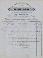 Mayenne - Laval - Arché Père - Crin, Pelleterie Et Chiffons En Gros - Achat De Ferraille Et Métaux 1866 - 1800 – 1899