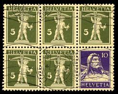 Markenheftchenblatt Ohne Rand, Teilwellenstempel, Katalog: H.-Bl.29x O - Se-Tenant
