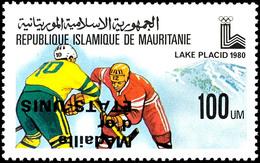 60 Und 100 WM Medaillengewinner Im Eishockey Bei Den Olympischen Winterspielen Mit Kopfstehendem Aufdruck, Postfrisch, K - Mauritania (1960-...)