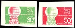 30 Bis 50 Fr. 50 Jahre Internationale Arbeitsorganisation (ILO) 1969, Breitrandig Ungezähnte Probedrucke, Tadellos Postf - Niger (1960-...)