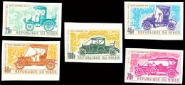 25 Bis 100 Fr. Alte Automobile Der Jahre 1900 Bis 1912, Kpl. Satz Ungezähnt Statt Gezähnt, Tadellos Postfrisch, Katalog: - Niger (1960-...)