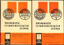 CSSR 1988 :  Monografie Ceskosl. ZNAMEK, Stempel Von  1919 - 1939, Zwei Handbücher Mit über 1.100 Seiten, Allumfassendes - Stamps