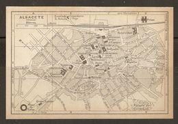 CARTE PLAN MAPA MAP 1935 ALBACETE - ESPAGNE ESPANA SPAIN - Topographische Karten
