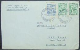 Yugoslavia - Cover To Holland 1953 Mining Fruits - Storia Postale