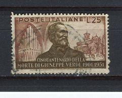 ITALIE - Y&T N° 616° - Verdi - 1946-.. République