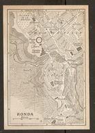 CARTE PLAN MAPA MAP 1935 RONDA - ESPAGNE ESPANA SPAIN - Topographische Karten