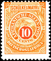 """10 Cent Seenpost Original Tadellos Postfrisch, Gepr. Hoffmann-Giesecke Und Fotobefund Dr. Hartung: """"einwandfrei"""", Mi. 15 - Colony: German East Africa"""