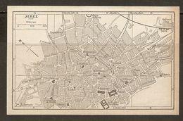 CARTE PLAN MAPA MAP 1935 JEREZ - ESPAGNE ESPANA SPAIN - Topographische Karten
