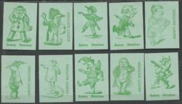 Belgium 10 Old Matchbox Labels - Matchbox Labels