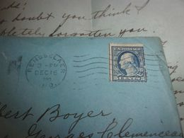 ENVELLOPPE TIMBREE USA 1920   MARQUAGE RENSSELAER INDIANA BURCHARDS VARIETY STORE    TO FRANCE  CLERMONT FERRAND - Cartas