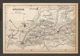 CARTE PLAN MAPA MAP 1935 SÉGOVIE - SEGOVIA - ESPAGNE ESPANA SPAIN - Topographische Karten
