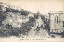 160. NICE-HAVRAIS . PERSPECTIVE DE L'AVENUE REINE-ELISABETH  . CARTE AFFR AU VERSO . 2 SCANES - Le Havre