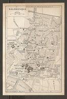 CARTE PLAN MAPA MAP 1935 SALAMANQUE - SALAMANCA - ESPAGNE ESPANA SPAIN - Topographische Karten