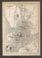 CARTE PLAN MAPA MAP 1935 ZAMORA - ESPAGNE ESPANA SPAIN - Topographische Karten