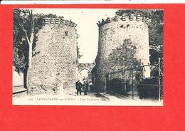 80 SAINT VALERY Sur SOMME Cpa Animée Tour Guillaume            107 LL - Saint Valery Sur Somme