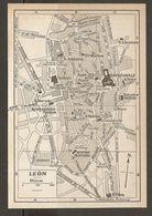 CARTE PLAN MAPA MAP 1935 LEON - ESPAGNE ESPANA SPAIN - Topographische Karten