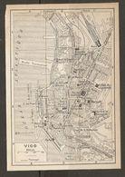 CARTE PLAN MAPA MAP 1935 VIGO - ESPAGNE ESPANA SPAIN - Topographische Karten